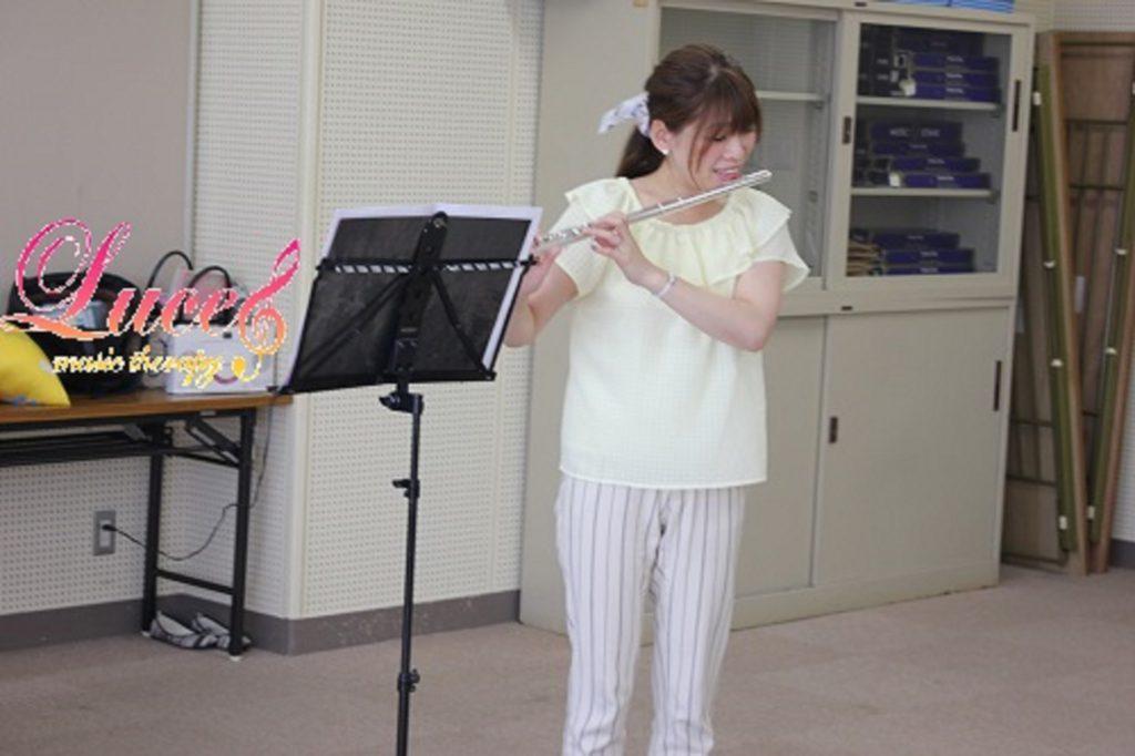 来月7月はリトミックレッスンにて「フルート&ピアノミニコンサート」!0歳~姫路ルーチェリトミック