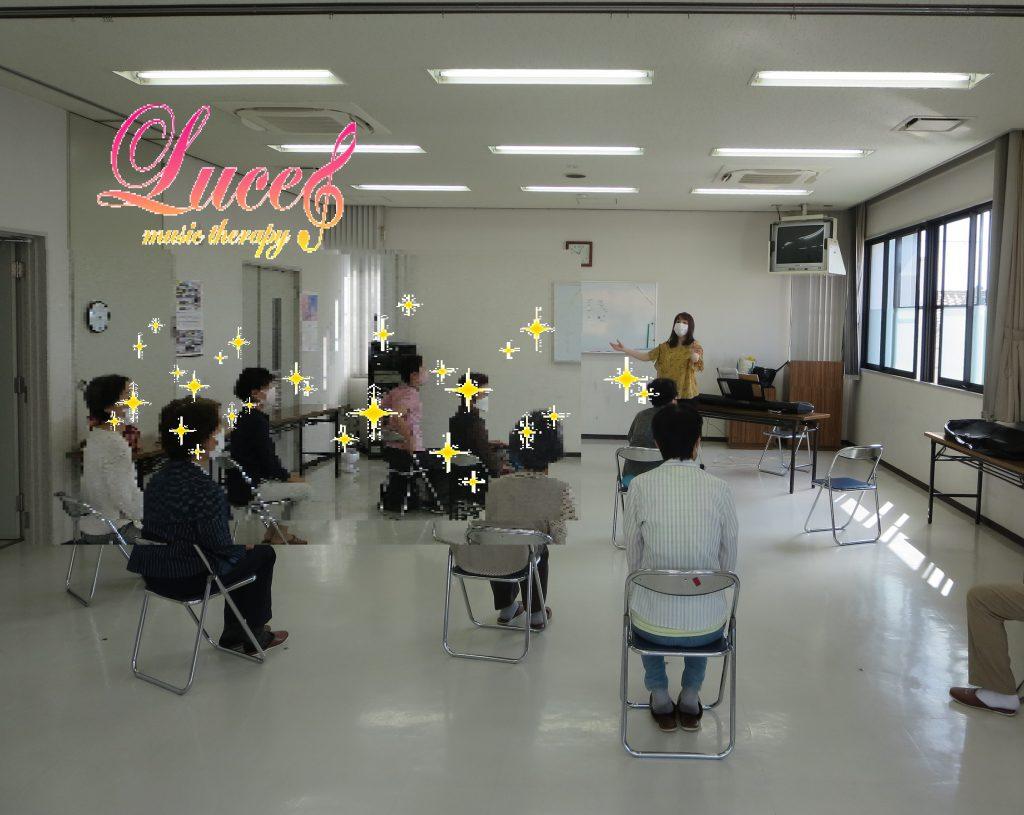 姫路市野里公民館へ初めてお伺い! 音楽療法士による健康音楽講座 姫路市ルーチェ音楽療法リトミック